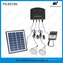 Mini sistema solar doméstico con cargador móvil con 2 bombillas, cargador de teléfono móvil