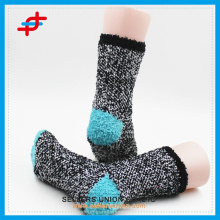 New style microfiber ladies stripe warm cozy needle socks