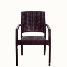 Venta al por mayor de muebles de ratán de plástico de China Alibaba comedor cafetería merienda al aire libre jardín reposabrazos silla