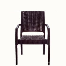 Gros Chine Alibaba meubles en plastique rotin à manger café collation en plein air jardin accoudoir chaise