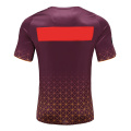 T-shirt à carreaux Dry Fit Rugby Wear pour homme