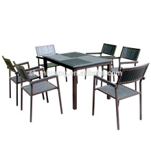 Garden plastic wood folding dining sets table and chairs balcony chairs
