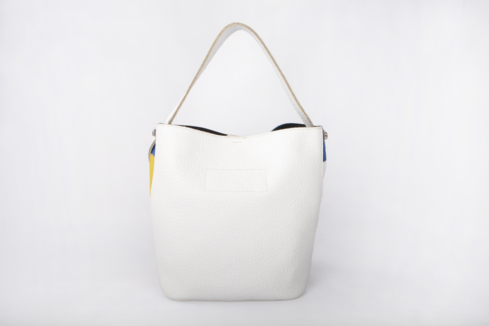 fashion patent leather women bucket bag