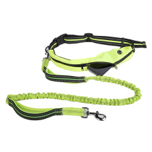 Hands Free Dog Leash Waist Belt With Pouch