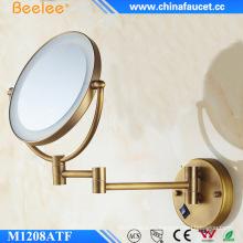 Espejo de aumento con luz LED ajustable de doble cara