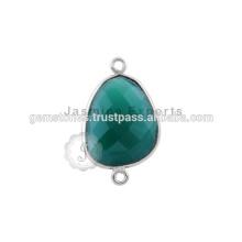 Plata esterlina 925 joyas de piedras preciosas plata esterlina saltar anillos de plata esterlina conector bisel