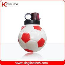 Garrafa de água de plástico, garrafa de esportes plástica, garrafa de água esportiva de 850 ml (KL-6822)