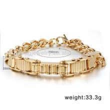 Cool man motorcycle chain bracelet jewelry,biker bracelets designs in gold for men