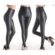 Mode hohe Qualität Frauen Leder Look Leggings (SR8207)