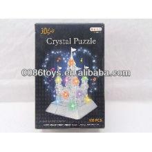 2013 nuevo artículo 105PCS Puzzle con luz-castillo
