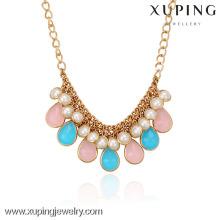 42547-Xuping Gold Necklace Designs Joyería de moda Hot Sales