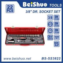 22 PCS 3 / 8''dr. Набор хром-ванадиевых ключей с храповым механизмом