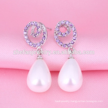 2018 pearl earring designs ear clip earrings from china
