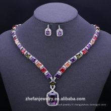 accessoires de mode ensembles de bijoux plaqués or