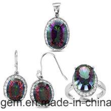 Набор ювелирных изделий с цветными камнями (S1224)