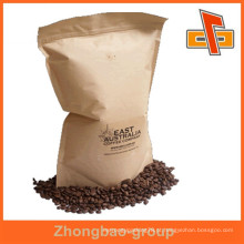 Sacos de empacotamento do café do gusset do lado de papel do kraft do fornecedor da porcelana da alta qualidade com impressão personalizam