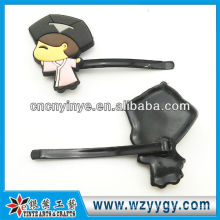 Promotional souvenir children girl silicone hairpin for party