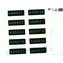Label Percetakan PVC Hitam