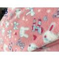 Knit printed Polar Fleece fabric