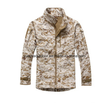 Military Digital Camo Softshell Jacket Waterproof and Breathable
