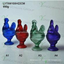 Crystal Glass Candy Jar/Food Jar/Rooster Jar