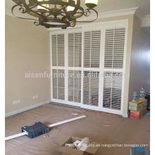 Vinilo / PVC Venta caliente White Elegance plantación persianas Componentes de la persiana
