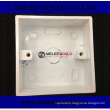 Molde plástico do receptáculo da tomada da caixa de fio
