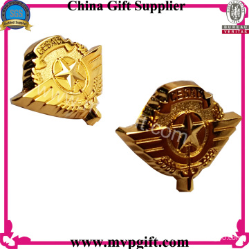 Metal Police Badge with Gold Color