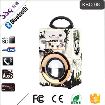 BBQ KBQ-08 10W 800mAh 2018 Altavoz multimedia de nueva llegada con entrada de micrófono fabricado en China