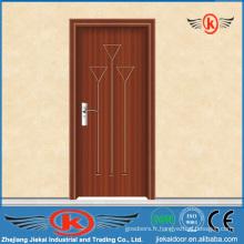 JK-P9023 Conception de porte en bois laminé en PVC