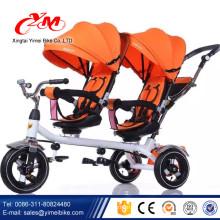 beste Qualität 3 Räder Baby Dreirad zum Verkauf / billig Preis Baby Zwillinge Dreirad / Doppelsitz Kinder Trike von Yimei Fabrik