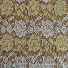 Single Dyed Brocade Lace Fabric