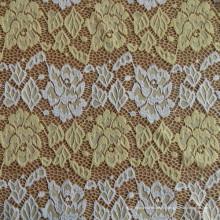 Одиночная окрашенная ткань кружева Brocade