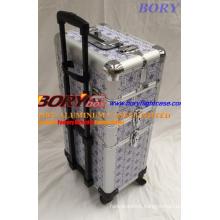 Wholesale Personalized Wheeled 3 Layers Professional Beauty Box