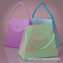 Transparent Clear Fashion Folding PVC gift box (plastic cosmetic bag)