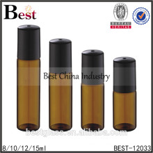 tube glass bottle with roll ball and cap for perfume small mini thin glass vial small container wholesale