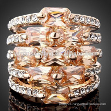 Latest design crystal zircon high quality diamond ring