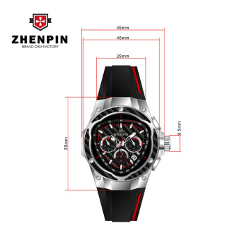 Top grade men's carbon fiber quartz watch wholesale