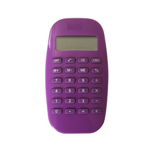 8 Digit Purple Smooth Led Screen Pocket Calculator