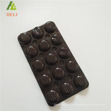 triplex row plastic PET material chocolate bar packaging tray