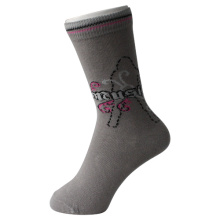 Grey Girl's Ankle Cotton Socks