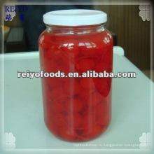 Консервированные фрукты - вишня в сиропе (красный, темно-красный)