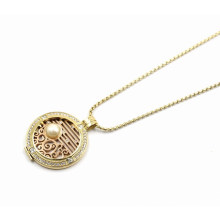 New Designed Floating Locket Pendant Necklace with Interchangeable Coin Plate
