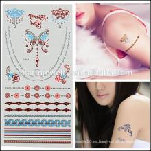 OEM Venta al por mayor tatuajes de diseño de moda tatuaje temporal de la mariposa moda diseño lindo para las niñas encantadoras V4641