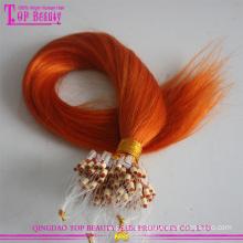 2015 новые продукты 100% человеческих волос дешевые оптовая бразильский Реми микро-цикла волос extentions