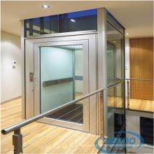 Ascenseur à la maison électrique d'intérieur en verre d'ascenseur de petite villa