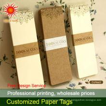 etiquetas personalizadas de joyas de papel