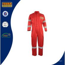Sicherheit Red Fire Retardant Baumwolle arbeiten Overall