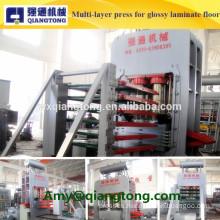 Multi-layer hot press machine for high glossy laminate flooring