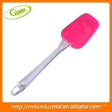 Espátula de silicone com alça longa de plástico
